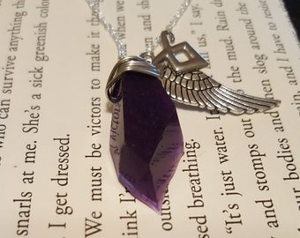 Clary Fray/Fairchild  purple portal shard Inspired necklace form the Shadowhunters series