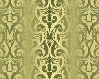 Ombre Stripe Green Jason Yenter Fabric 1 yard