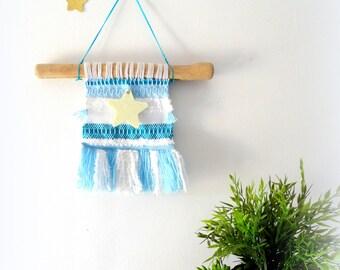 Wall weaving, nursery decor, weaving wall hanging, nursery tapestry wall hangings, woolen wall hanging
