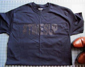 Black 0n Black Short Sleeved T-Shirt #timesup