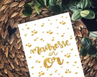 Great card: centerpiece in gold