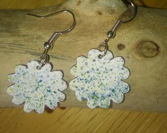 Enamel Earrings, Enamel jewellery, Copper jewellery, Drop earrings, Dangle earrings, Mothers day gift, Bridesmaid gift, Birthday gift.