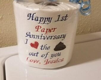 Custom Toilet Paper Rolls