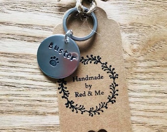 Hand Stamped Dog Tag Personalised