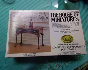 House Of Miniatures Queen Anne Table Kit