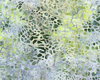 Batik Fabric, 1/2 Yard, Robert Kaufman, Quilting, Batik, Clothing, Earth, Sage, Pond, Stone