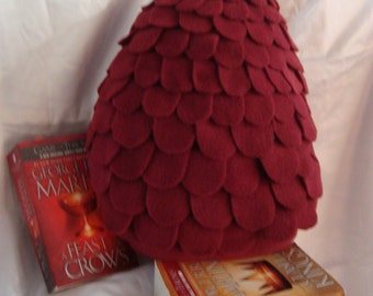 Red Game of Thrones Inspired Dragon Egg Pillow/Plush