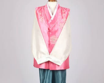 Korean Hanbok Korean Traditional Costume Set for Men 남자한복 M-size (100) B-049