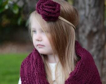 Rose crochet headband