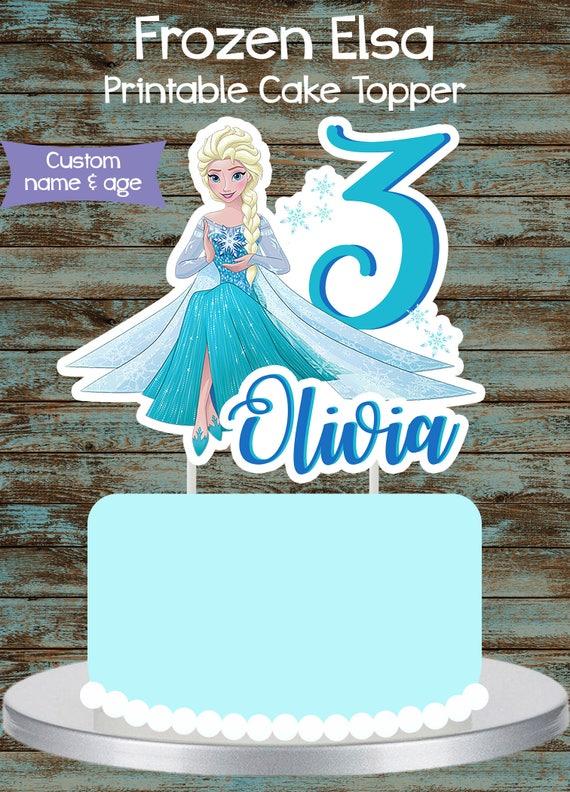 Printable Frozen Cake Topper Frozen Elsa Centerpiece Frozen