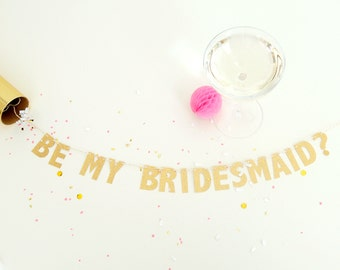 will you be my bridesmaid gift • card • proposal • wedding party gift • bridesmaid proposal • invitation • mini banner • maid of honor