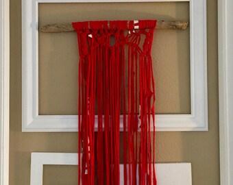 Upcycled T-Shirt Macrame Wall Hanging