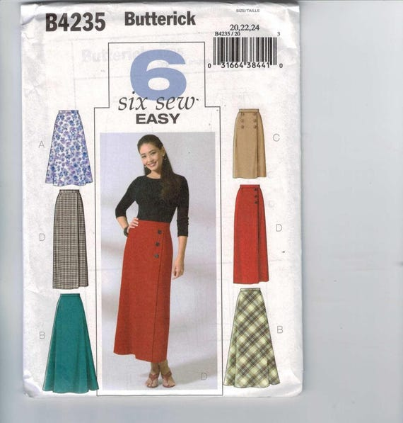 Misses Sewing Pattern Butterick B4234 4235 Misses Easy Skirts