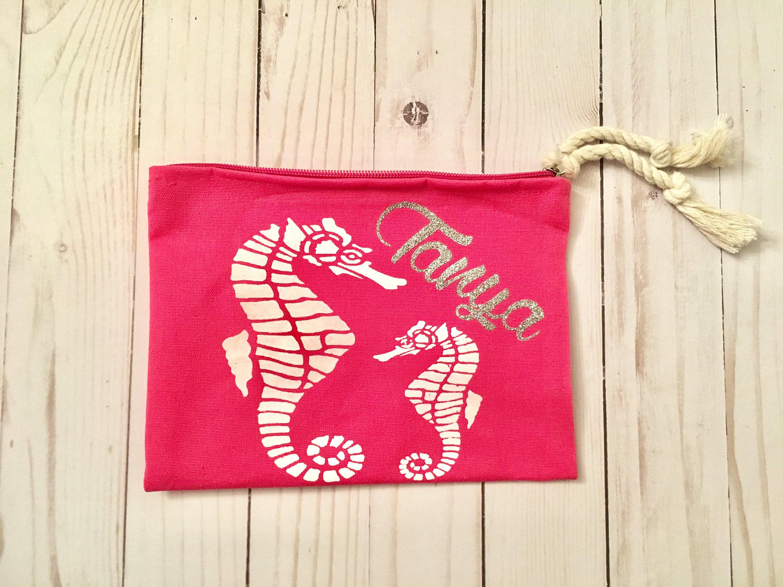 Personalized beach cosmetic bag custom cosmetic bag