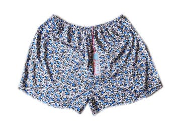 Lavender and Lilac Vintage Floral Highwaisted Shorts