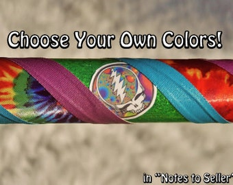 GrAteFuLLy DeADiCaTeD - The Ultimate Grateful Dead Hoop - Choose ANY COLOR TaPeS & ANY Grateful Dead Decals.