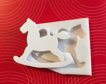 NON-Food silicone mould with rocking pony cm. 9