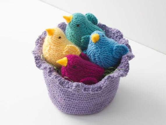 Easter basket crocheted basket easter gift for girl little like this item negle Images