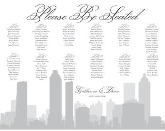 Atlanta Seating Chart Printable Digital Design PDF Custom Personal Poster Print File ONLY Seat Map