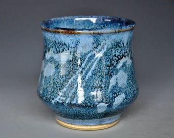 Blue Ceramic Tea Cup Stoneware Pottery Mug A