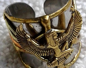 Symbolic Ancient Egyptian Designed Charm Ring, Maat - Goddess of truth/justice, #Egyptian Jewelry, #Afrocentric, #Kemetic, #Nubian, #Ma'at