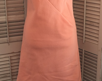 Vintage Peach Shift Dress~ Vintage Fashion, Vintage Dress, Peach Dress, Mid-Century Dress