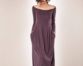 Black Friday Sale/ Women Dress/ Long Sleeves Dress/ Midi Dress/ Winter Dress/ Womens Dress/ Cocktail Dress / Maxi Dress/ Purple Dress