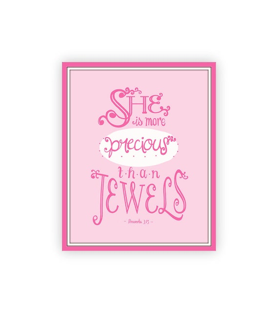 Printable Bible Verse For Baby Girl Bible Quote Print Baby