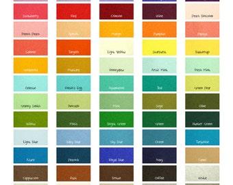 """100 Percent Wool Felt Sheets -  3 Sheets of 8"""" X 12"""" Felt - You Pick Color - Merino Wool Felt - 100% Wool Felt"""