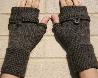 Oxford Fingerless mittens - knitting pattern (PDF download)