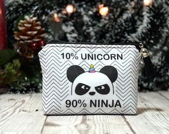 Funny gift panda small gift for girlfriend cute wallet, Keychain wallet Best friend gift idea for her, Change wallet,Change purse