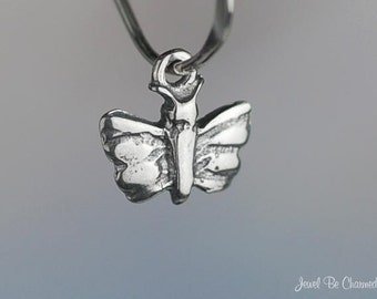 Sterling Silver Teeny Tiny Butterfly Charm Miniature Butterflies .925