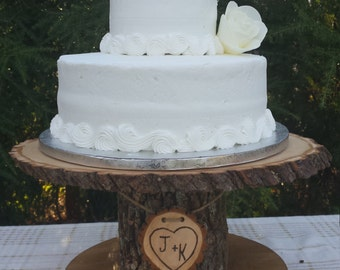 Wood Cupcake Stand, Personalized Cake Stand, Log Cake Stand, Tree Cake Stand, Wood Slice Cake Stand, Rustic Cake Stand, Stump Cake Stand