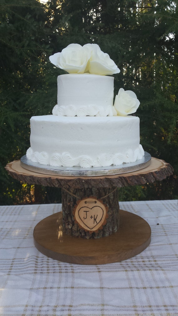 wedding cake tree stump stand wood cupcake stand personalized cake stand log cake stand 26707