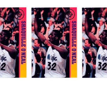 5 - 1993 Ballstreet Shaquille O'Neal Version 6 Basketball Card Lot Orlando Magic