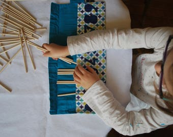 Digital bobbin / portable game Montessori inspired