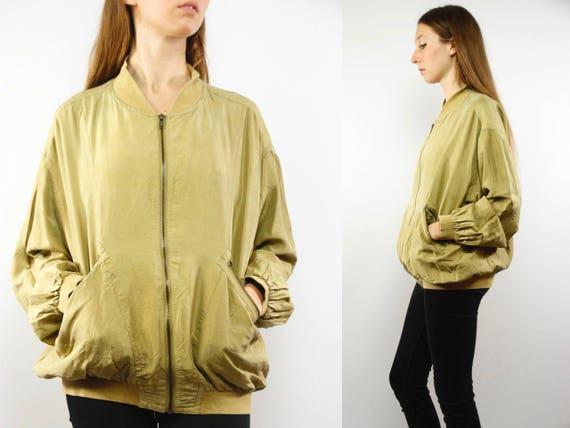 Bomber Jacket Gold / Silk Jacket Gold / Oversize Silk Jacket / Balloon Jacket Silk / Silk Jacket / Bomber Jacket Silk / Bomber Jacket / Silk