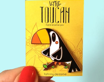 Cute Enamel Pin Toucan