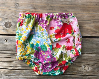 New born baby clothes High waisted Bloomers- 0-3 month old bloomer girls fashion outfit kids fashion clothes new baby flowers floral print