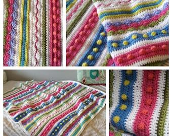 Juliette Sampler Baby Blanket Crochet Pattern