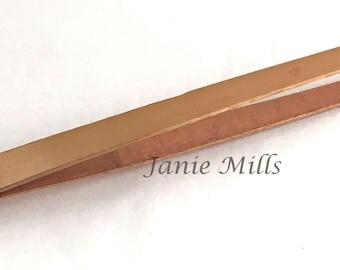 tongs tweezers jewelers copper bent tip 9 inch