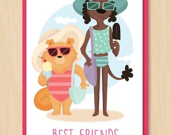 Girlfriends Card