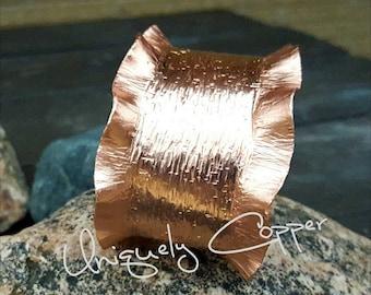 Copper Cuff Bracelet, Ruffled Copper Cuff, Copper Bracelets, Copper Cuff, 7th Anniversary, Wife Anniversary Gift, Copper Anniversary, Copper