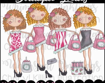 Boutique Ladies Clipart Collection- Immediate Download