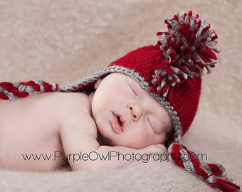 Custom Made to Order Mohawk Earflap Beanie - Photography prop - Any Size
