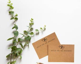 Wedding Advice Cards - Advice for the Newlyweds - Rustic Wedding Theme - Advice for the Bride & Groom