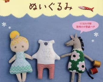New book :  Girls pretty cute stuffed toy - Japanese doll sewing book