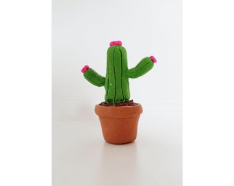 Mini Polymer Clay Cactus|Miniature Plants