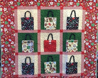 On Sale Christmas Shopping 48x48 inch art quilt
