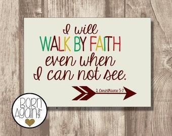 Printable Bible Verse 2 Corinthians 5:7